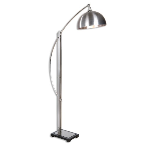 Uttermost Lamps Malcolm Brushed Nickel Floor Lamp