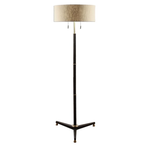 Uttermost Lamps Levice Rust Black Floor Lamp