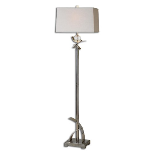 Uttermost Lamps Cortlandt Curved Metal Floor Lamp