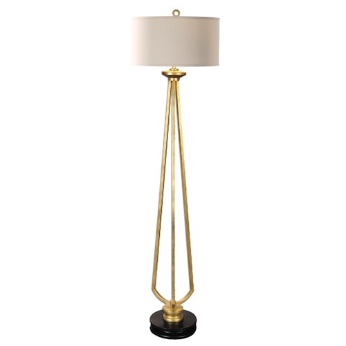 Uttermost Lamps Torano Antiqued Gold Floor Lamp