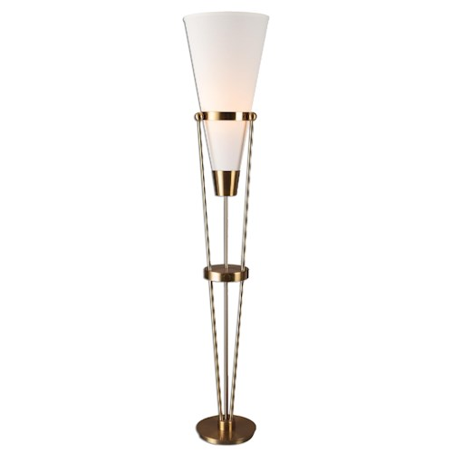 Uttermost Lamps Bergolo Brushed Brass Floor Lamp