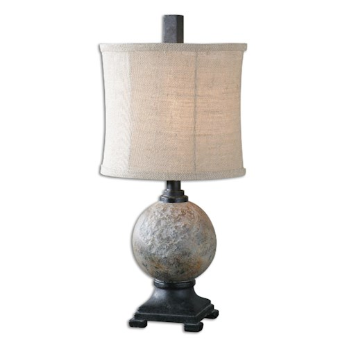 Uttermost Lamps Calvene Concrete Ball Table Lamp