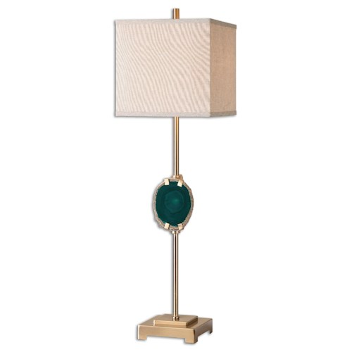 Uttermost Lamps Achates Emerald Agate Buffet Lamp