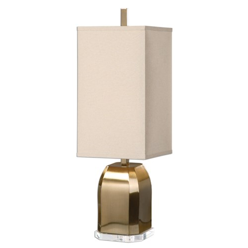 Uttermost Lamps Lantana Brushed Brass Lamp