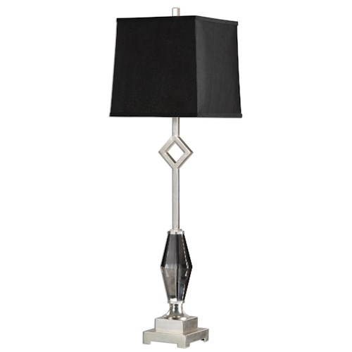 Uttermost Lamps Cervasca Smoked Crystal Buffet Lamp
