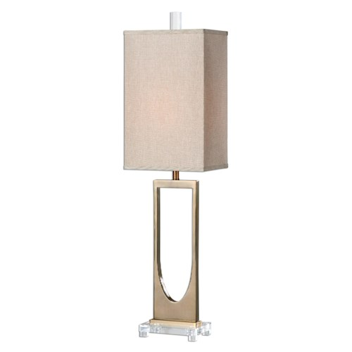 Uttermost Lamps Genivolta Brushed Brass Lamp