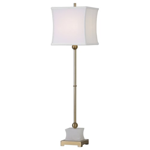 Uttermost Lamps Liano Brushed Brass Buffet Lamp