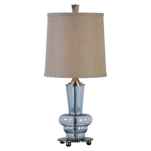 Uttermost Lamps Aubin Blue Glass Buffet Lamp