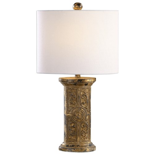 Uttermost Lamps Latina Antiqued Gold Lamp