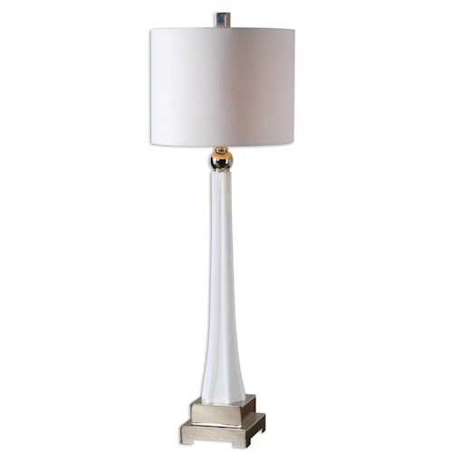 Uttermost Lamps Boretto White Glass Lamp
