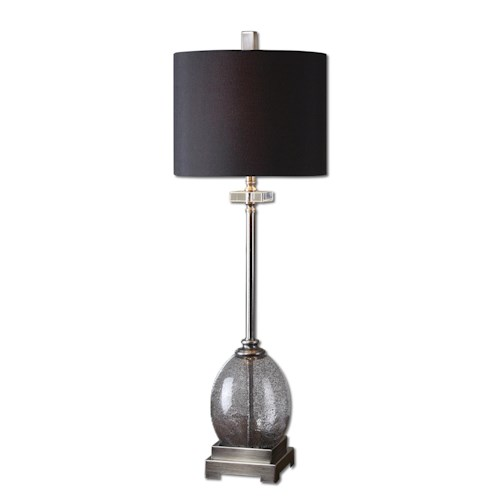 Uttermost Lamps Denia Gray Glass Table Lamp