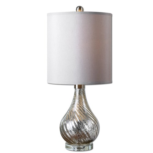 Uttermost Lamps Girona Mercury Glass Table Lamp