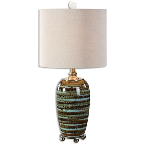 Uttermost Lamps Laurendine Bronze Stripes Table Lamp