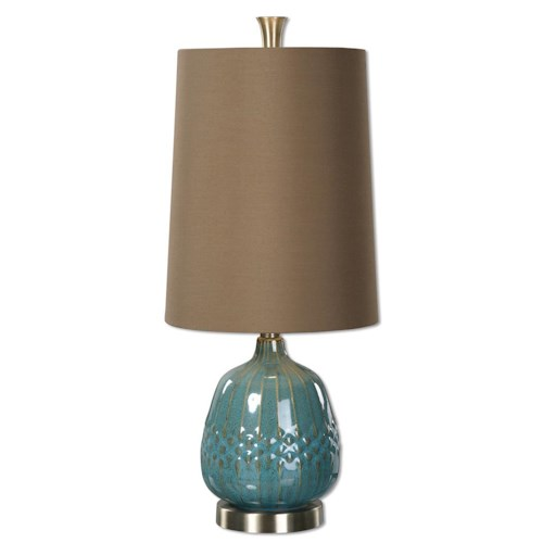 Uttermost Lamps Casaletto Blue Ceramic Lamp