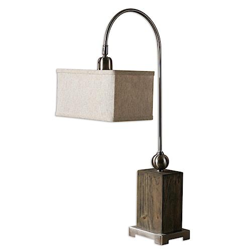 Uttermost Lamps Abilene Wooden Accent Lamp