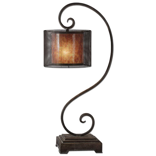 Uttermost Lamps Dalou Scroll