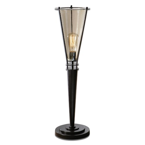 Uttermost Lamps Frisco Black Metal Accent Lamp