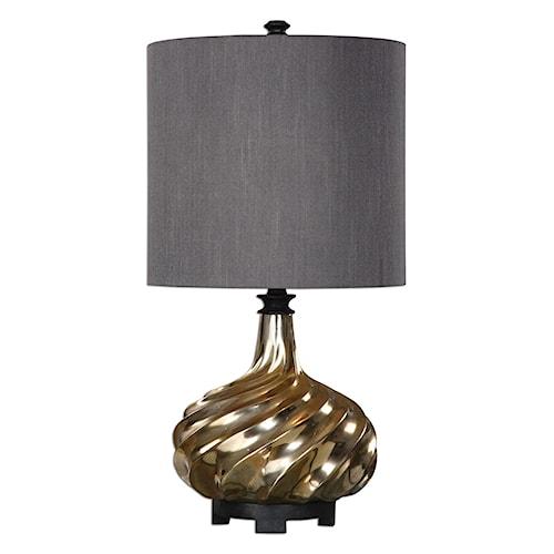 Uttermost Lamps Cotati Metallic Antique Gold Lamp
