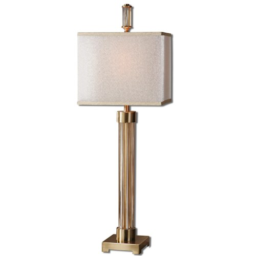 Uttermost Lamps Moraira Amber Glass Buffet Lamp