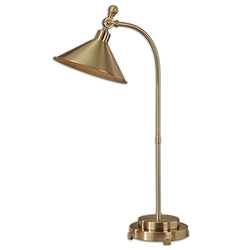 Uttermost Lamps Viarigi Coffee Bronze Desk Lamp