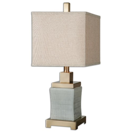 Uttermost Lamps Cantarana Pale Blue Gray Lamp