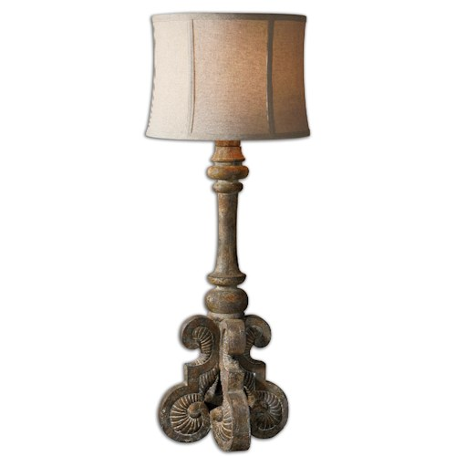 Uttermost Lamps Cavour Aged Concrete Buffet Lamp