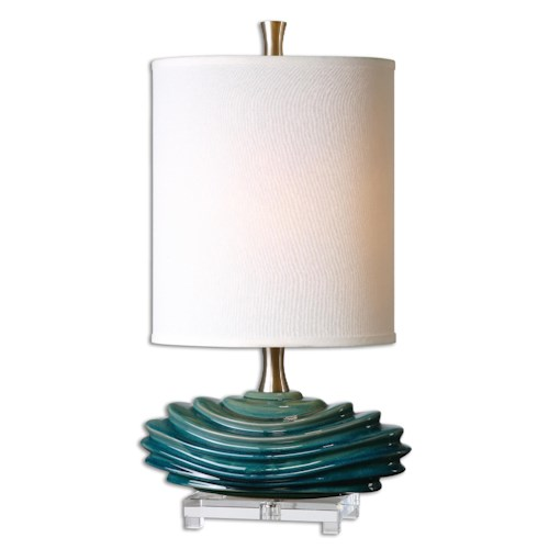 Uttermost Lamps Talucah Teal Blue Table Lamp