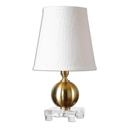 Uttermost Lamps Laton Mini Brushed Brass Table Lamp