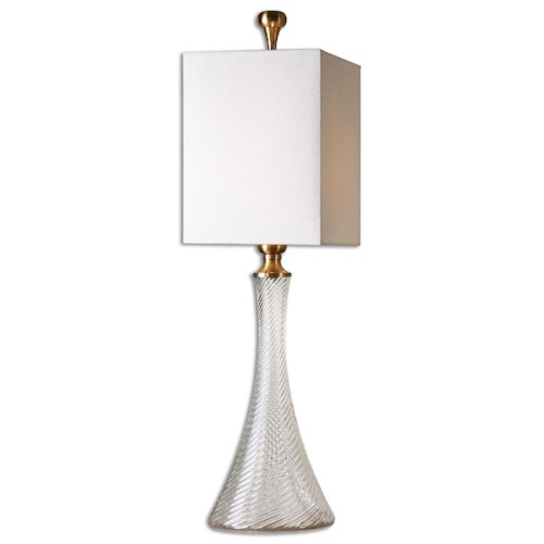 Uttermost Lamps Ballina Fluted Glass Table Lamp