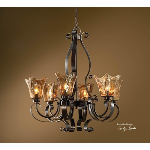 Uttermost Lighting Fixtures Vetraio 6-Light Chandelier