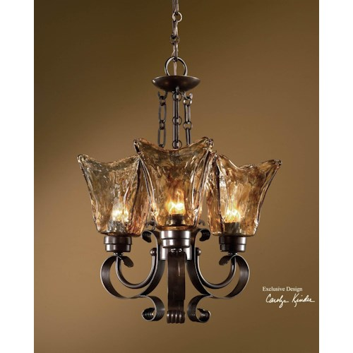 Uttermost Lighting Fixtures Vetraio 3-Light Chandelier