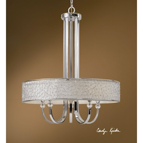 Uttermost Lighting Fixtures Brandon 5 Light Single Shade Chandelier