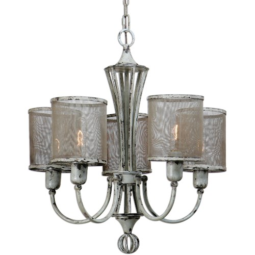 Uttermost Lighting Fixtures Uttermost Pontoise 5 Light Vintage Chandelier
