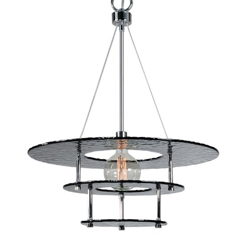 Uttermost Lighting Fixtures Gyrus 1 Light Smoke Glass Chandelier