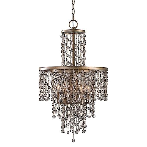 Uttermost Lighting Fixtures Valka 6 Light Crystal Chandelier