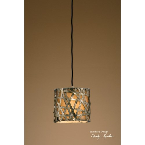Uttermost Lighting Fixtures Alita Champagne Mini Metal Hanging Shade