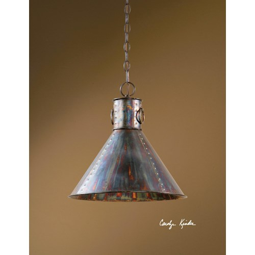 Uttermost Lighting Fixtures Levone 1 Light Pendant