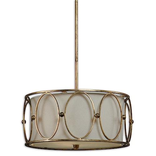 Uttermost Lighting Fixtures Ovala 3 Light Pendant
