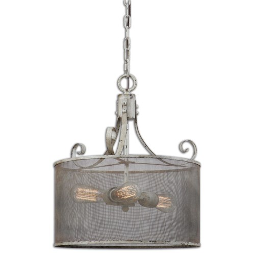 Uttermost Lighting Fixtures Pontoise 3 Light Drum Pendant