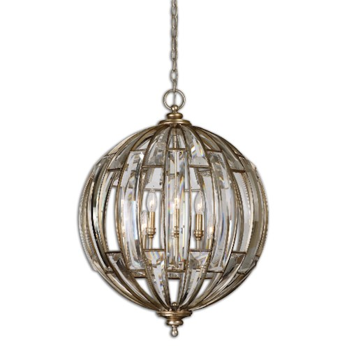 Uttermost Lighting Fixtures Uttermost Vicentina 6 Light Sphere Pendant