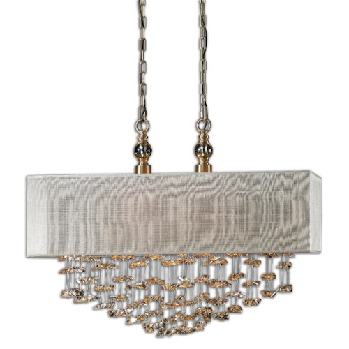 Uttermost Lighting Fixtures Uttermost Santina 2 Light Shade Pendant