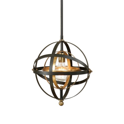 Uttermost Lighting Fixtures Rondure 1 Light Sphere Mini Pendant