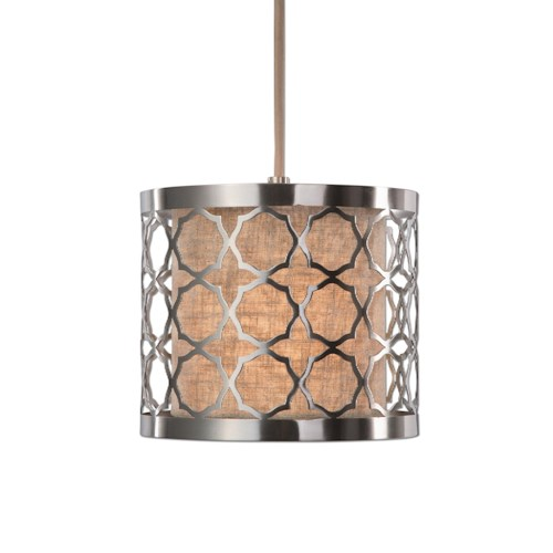 Uttermost Lighting Fixtures Harwich 1 Light Brushed Nickel Mini Pendant