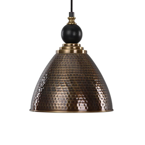 Uttermost Lighting Fixtures Adastra 1 Light Antique Brass Pendant