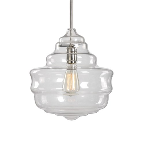 Uttermost Lighting Fixtures Bristol 1 Light Beehive Glass Pendant