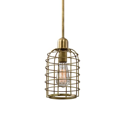 Uttermost Lighting Fixtures Septa 1 Light Cage Mini Pendant