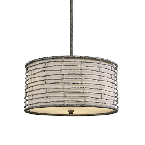 Uttermost Lighting Fixtures Smida 3 Light Rustic Hanging Shade