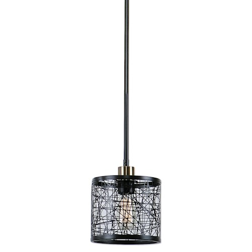 Uttermost Lighting Fixtures ThinAlita 1 Light Bronze Mini Pendant