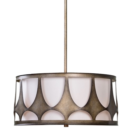 Uttermost Lighting Fixtures Ingevald 4 Light Drum Pendant