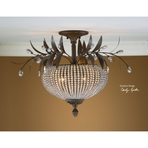 Uttermost Lighting Fixtures Cristal De Lisbon Semi Flush Mount